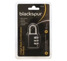 3 DIGIT BLACK COMBINATION PADLOCK