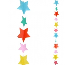 1.2M MULTI COLOUR STARS BALLOON TAIL