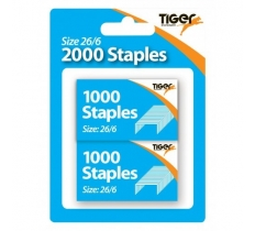 2 x 1000 26/6 Staples - Blister