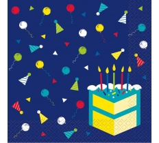 Peppy Birthday Luncheon Napkins 16ct