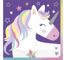 16 PACK UNICORN LUNCH NAPKIN