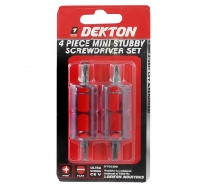 DEKTON 4PC MINI STUBBY SCREWDRIVER SET