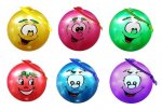 "10"" ( 25CM ) SMILEY FACE FRUIT SCENTED BALL WITH KEYRING"