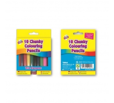 10 CHUNKY 1/2 SIZE COLOURING PENCIL