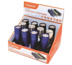 BLACKSPUR 6 LED ALUMINIUM FLASHLIGHT IN DISPLAY BOX