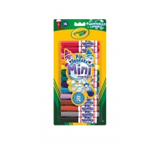 CRAYOLA PIPSQUEAK MINI MARKER ASSORTED COLOURS 14 PACK