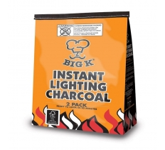 Big K BBQ Instant Light Charcoal 2 x 1KG