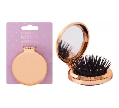 FOLDAWAY BRUSH WITH MIRROR