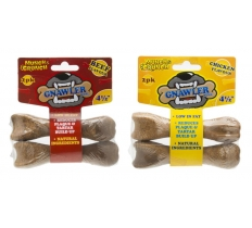 "GNAWLER BONE 4.5"" 2pk ASSORTED"