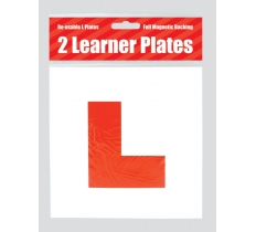 COUNTY ALL MAGNETIC LEARNER DRIVER RED L PLATES 2 PACK