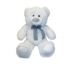 20CM SITTING BEAR WHITE