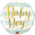 "18"" BABY BLUE STRIPE BALLOON"