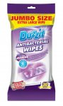 DUZZIT EXTRA LARGE LAVENDER ANTIBACTERIAL WIPES 30 PACK