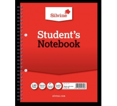 SILVINE RULED STUDENT NOTEBOOK 229MM X 178MM 120 PAGES