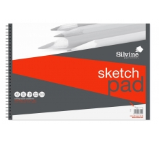 Silvine A3 Twin Wire Artist Pad 30 Sheets High Quality
