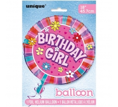 "18"" PKG BIRTHDAY GIRL FOIL BALLOON"