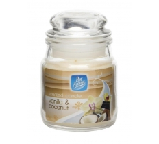 SMALL JAR CANDLE WITH LID - VANILLA & COCONUT
