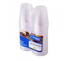 CLEAR PLASTIC 20ML SHOT GLASSES 32 PACK