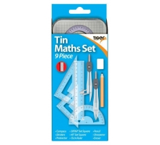 TIGER PREMIUM 9 PIECE MATHS SET IN A TIN