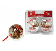2PACK 60MM PHOTO FRAME BAUBLES
