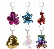 SEQUIN KEYCHAIN SIX ASSORTED DESIGNS