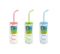 CRAZY STRAW BEAKER ( ASSORTED COLOURS )