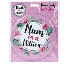 JUMBO MUM BADGE ON CARD 15.5cm x 20cm