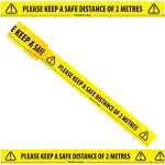 PLEASE KEEP A SAFE DISTANCE OF 2 METRES TAPE 50MM X 33MM