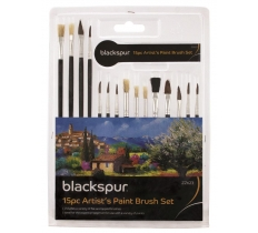 Artist Paint Brush Set (15 Piece)