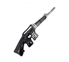 INFLATABLE MACHINE GUN BLACK W/SILVER 90CM