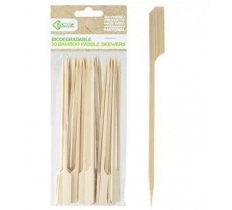 ECO CONNECTION 30PACK 20CM X4MM BAMBOO PADDLE SKEWER