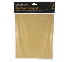 Sandpaper/Glass Paper 10 Asst Pack