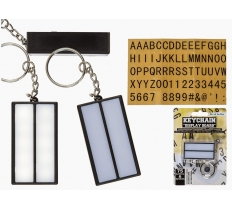 Metal keychain Plastic display board (incl. battery)