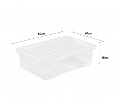 Crystal 32L Underbed Box and Lid