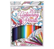 20 FULL SIZE ADULT COLOUR THERAPY PENCILS