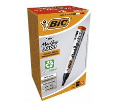 BIC 2300 PERMANENT MARKER MEDIUM CHISEL RED PACK OF 12