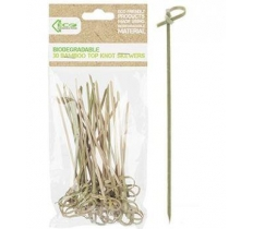 ECO CONNECTION 30PACK 12CM TOP KNOT BAMBOO SKEWER