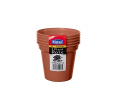 "WHITEFURZE 12.7CM 5"" POT SET OF 5 TERRACOTTA"