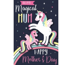 MOTHERS DAY UNICORN POPPET