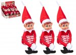 "12"" 30cm RED LONG LEG SOFT BODY VINYL FACE BOY ELF WITH HAT"