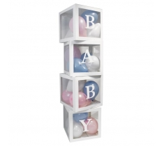 SET OF 4 BABY BOXES WITH BALLOONS