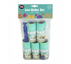PET LINT ROLLER WITH 4 REFILLS