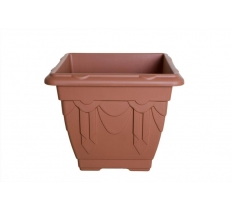 22cm Square Venetian Planter - T/Cotta