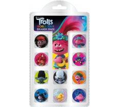 TROLLS MOVIE ERASER PACK
