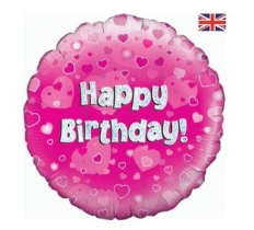 "OAKTREE 18"" HAPPY BIRTHDAY PINK HOLOGRAPHIC"