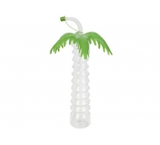 "11"" TROPICAL PALM TREE 520ML DRINKING BOTTLE"