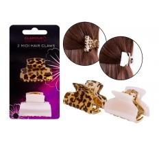 2 MIDI HAIR CLAWS IN FASHION DESIGNS