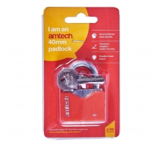 40MM RHOMBIC CHROME IRON PADLOCK