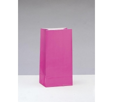 12 PPR PARTY BAGS -HOT PINK
