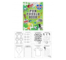 SUPER FUN 10.5CM X 14.5CM FOOTBALL PUZZLE BOOK X 48
